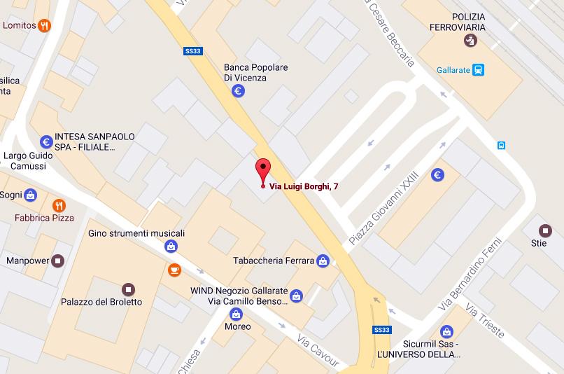 mappa studio borghi - Contatti